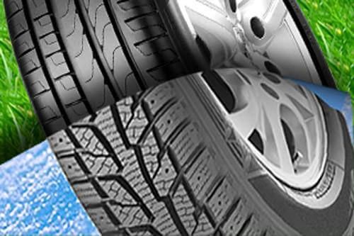 использование автомобильных шин летом и зимой